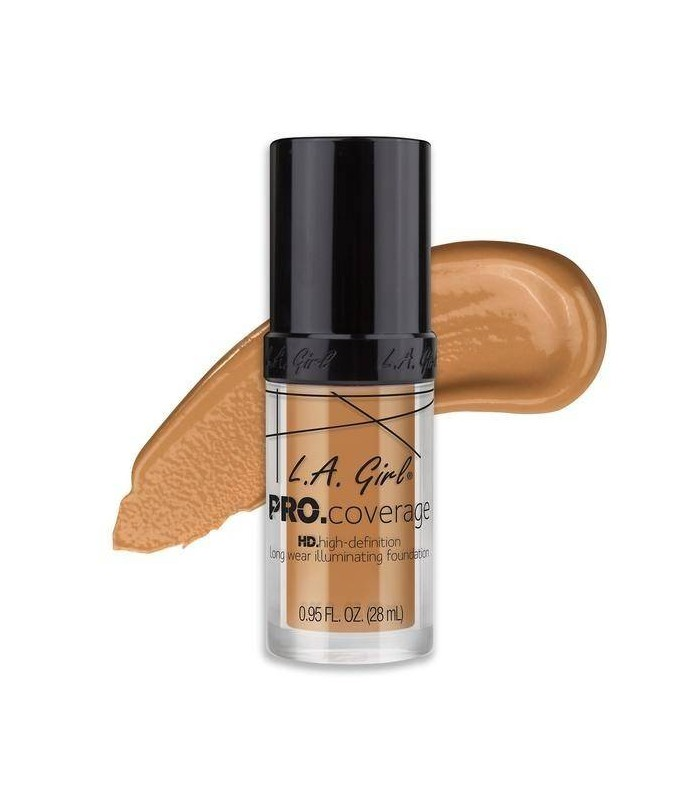 GLM645 NUDE BEIGE - L.A GIRL HD PRO COVERAGE ILLUMINATING FOUNDATION ( 28ML )