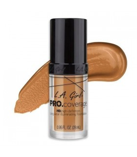 GLM647 WARM BEIGE - L.A GIRL HD PRO COVERAGE ILLUMINATING FOUNDATION ( 28ML )