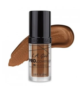 GLM654 COFFEE - L.A GIRL HD PRO COVERAGE ILLUMINATING FOUNDATION ( 28ml )