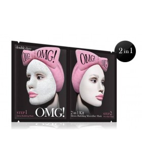 OMG 2 in 1 - KIT DETOX BUBBLING MICROFIBER MASK