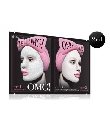 OMG 2 in 1 - KIT DETOX BUBBLING MICROFIBER MASK DOUBLE DARE OMG -  7.2