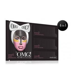 OMG 4 in 1 KIT ZONE SYSTEM MASK ( Masque visage 4 Zones ) DOUBLE DARE OMG -  8.4