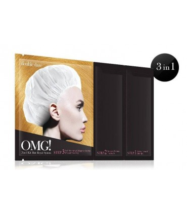 OMG 3 in 1 KIT HAIR REPAIR SYSTEM MASK ( Masque Cheveux ) DOUBLE DARE OMG -  9.6
