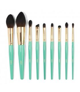 JUVIA'S Turquoise Blue 9pcs Brush - KIT 9 Pinceaux