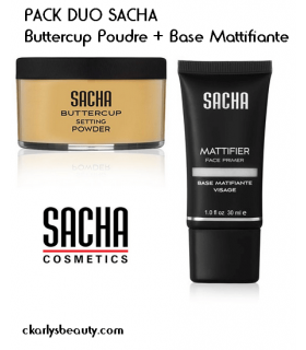 PACK DUO SACHA Buttercup Powder + Base Mattifiante