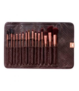Rose Gold Brush Set - KIT 15  Pinceaux BH COSMETICS