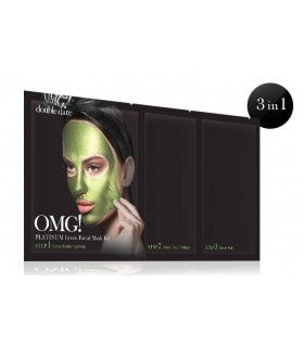 OMG! PLATINUM GREEN FACIAL MASK KIT DOUBLE DARE OMG -  7.92