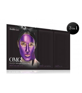 OMG! PLATINUM PURPLE FACIAL MASK KIT DOUBLE DARE OMG -  7.92