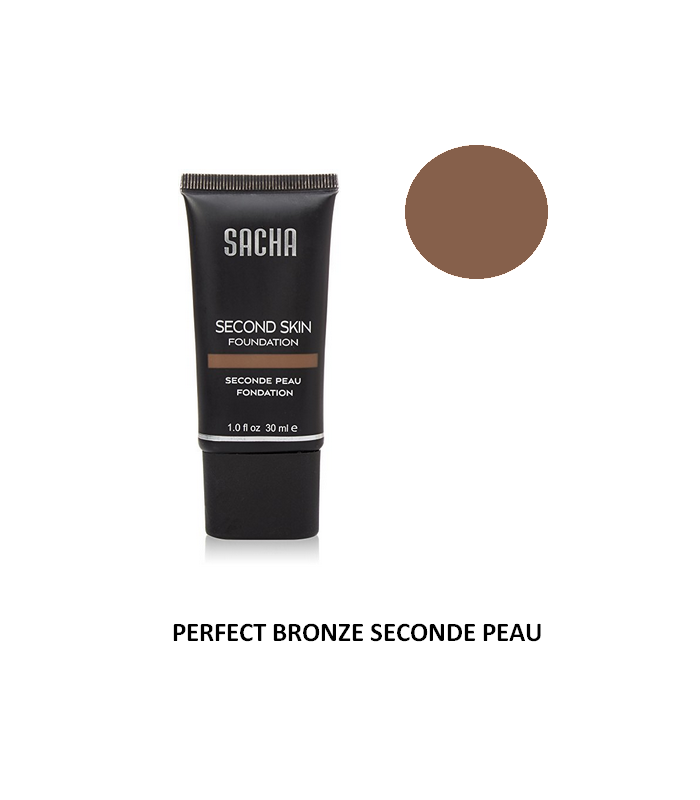 PERFECT BRONZE LIQUID SECOND SKIN 40ml - Fond de teint liquide Seconde Peau par Sacha Cosmetics