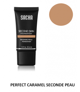 PERFECT CARAMEL LIQUID SECOND SKIN 40ml - Fond de teint liquide Seconde Peau par Sacha Cosmetics