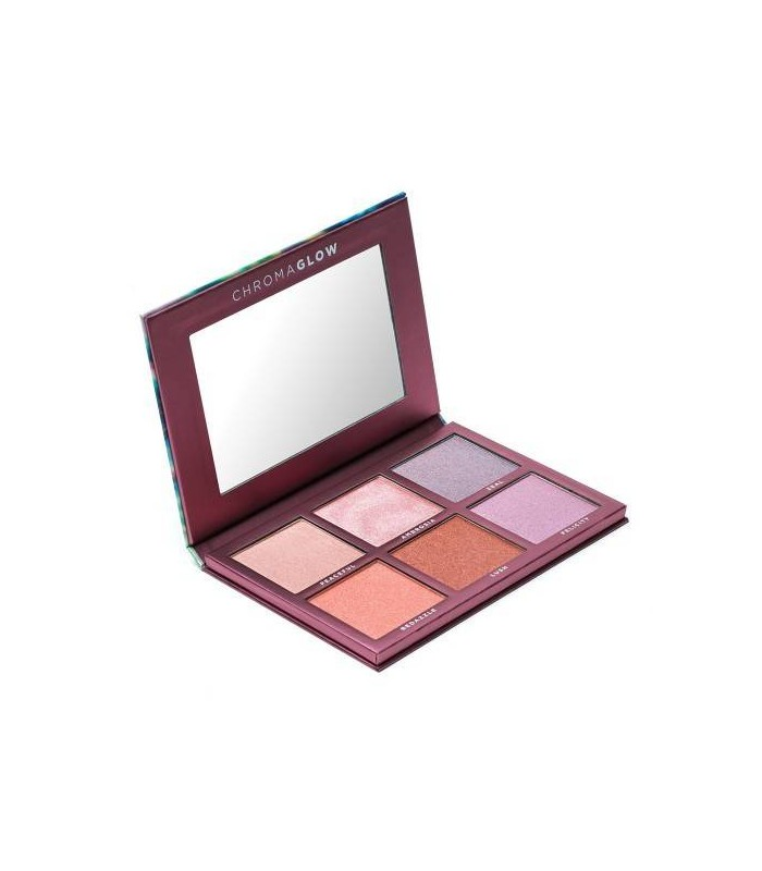 CHROMA GLOW SHIMMER + HIGHLIGHT PALETTE - 6 Shades - SIGMA BEAUTY SIGMA BEAUTY -  39.85