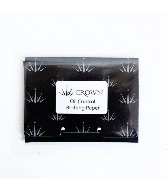 50 PAPIERS BUVARD ANTI-BRILLANCE VISAGE - OIL CONTROL BLOTTING PAPER CROWNBRUSH