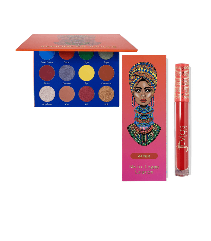 PACK AFRIQUE PALETTE EYESHADOW + GLOSS Afrik By JUVIA'S PLACE JUVIAS PLACE -  39.9