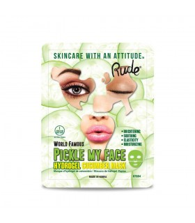 PICKLE MY FACE HYDROGEL CUCUMBER MASK - MASQUE AU CONCOMBRE- RUDE COSMETICS