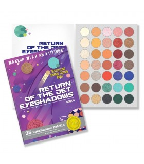 RETURN OF THE JET EYESHADOWS - 35 EYESHADOW PALETTE- RUDE COSMETICS