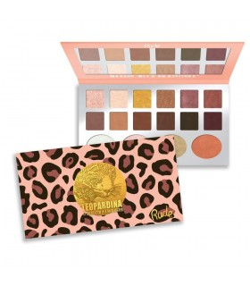 LEOPARDINA - EYESHADOW + HIGHLIGHTER PALETTE- RUDE COSMETICS