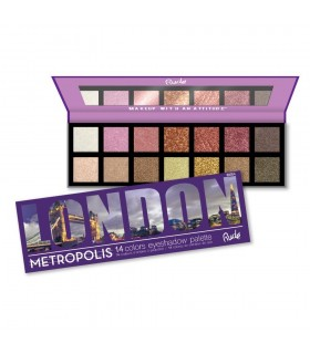 METROPOLIS 14 Eyeshadows - LONDON - RUDE COSMETICS