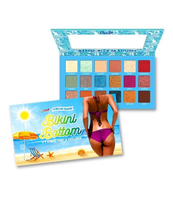 BIKINI BOTTOM - 18 EYESHADOW PALETTE - RUDE COSMETICS