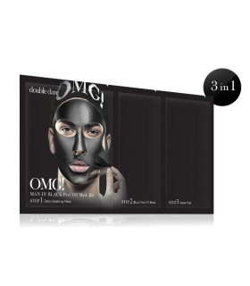 OMG! MAN IN BLACK PEEL OFF MASK KIT - MASQUE VISAGE HOMME DOUBLE DARE OMG -  7.92