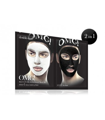 OMG! MAN IN BLACK FACIAL MASK KIT DOUBLE DARE OMG -  6.32