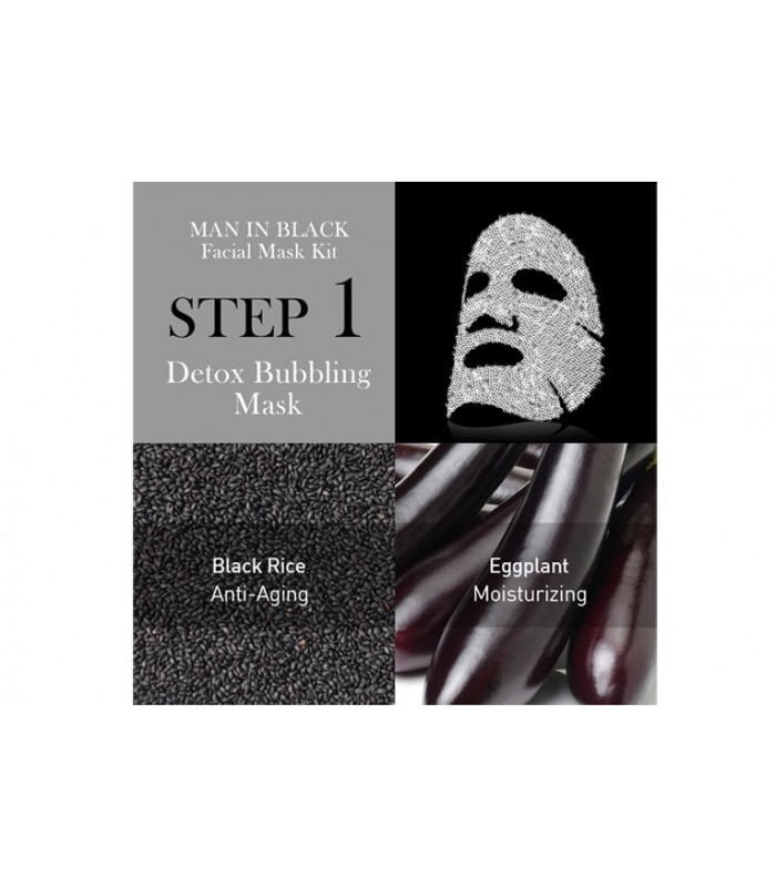 OMG! MAN IN BLACK FACIAL MASK KIT - MASQUE VISAGE HOMME DOUBLE DARE OMG -  6.32