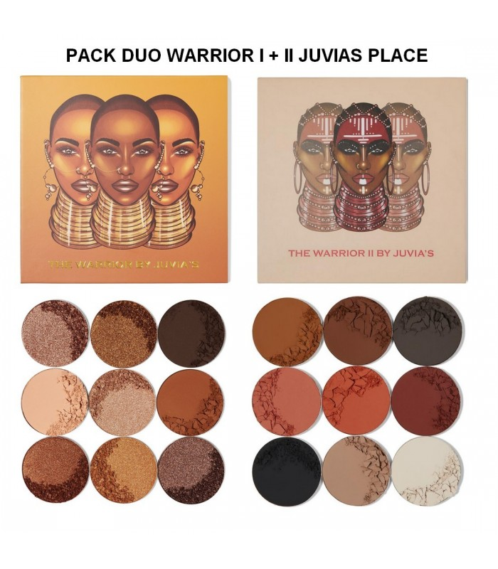 PACK DUO JUVIA'S PALETTE WARRIOR I + WARRIOR II JUVIAS PLACE -  49.9