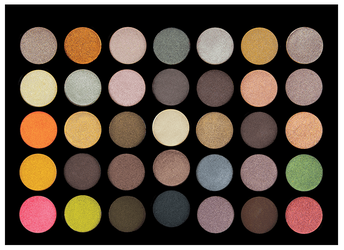 35 COLOUR METAL MADNESS Eyeshadow Palette - Palette fards à paupières CROWNBRUSH