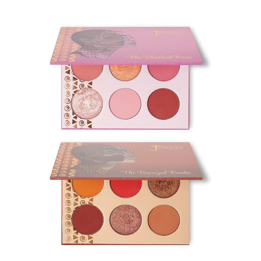 PACK DUO BRONZED RUSTIC + BLUSHED ROSE EYESHADOWS PALETTE JUVIAS PLACE