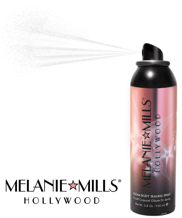 GLEAM BODY SEALING SPRAY - Spray fixateur 3.8oz - 150ml - Melanie Mills Hollywood