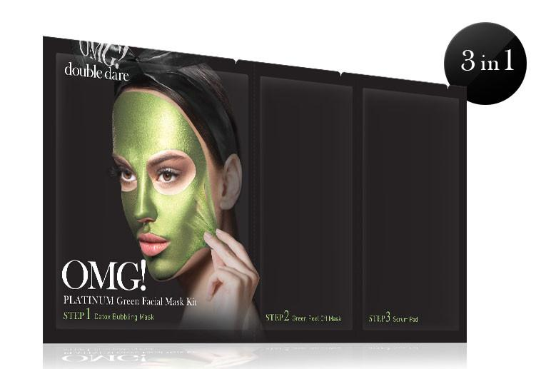 KIT MASQUE VISAGE PLATINUM VERT OMG Double Dare