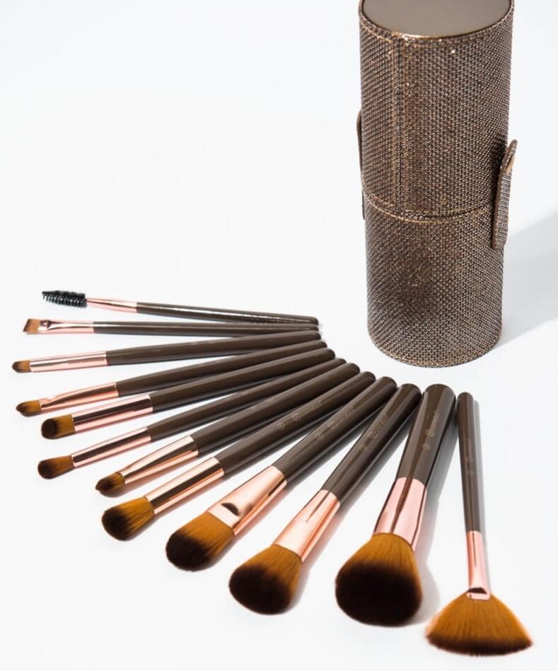 Shimmering Bronze - 12 Piece Brush Set - KIT 12 Pinceaux BH COSMETICS