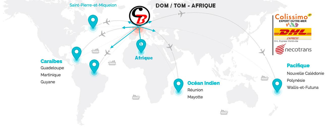 LIVRAISON DOM TOM AFRIQUE